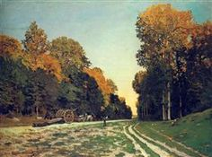 The Road from Chailly to Fontainebleau - Claude MonetClaude Monet♦️More Pins Like This At FOSTERGINGER @ Pinterest ♦️