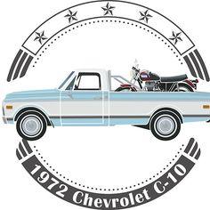 1972 Chevrolet C10 with 1970 Triumph Bonneville