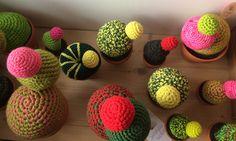 Crochet cactus, original designs by Señorita Crochet Textiles, Crochet Cactus, The Originals, Design, Parts Of The Mass, Creativity, Dots, Creative Workshop