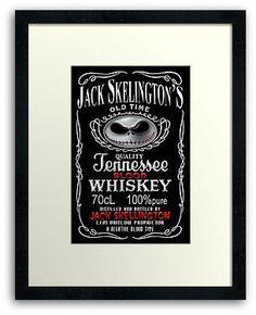 Jack Daniels Skellingtons Halloween Blood Whiskey FRAMED PRINTS, POSTER AND CARDS