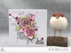 "Sandelsa : #Tampons et #matrices de coupe #dies #4enSCRAP ""#Roses "" #fleurs #scrapbooking #DIY #loisirscréatifs #carte #carterie Mini Albums, Nature Rose, Origami, Tampons Transparents, Photo And Video, Bird, Scrapbooking Diy, Roses, Pretty Cards"