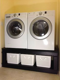 Raising Washer And Dryer Off The Floor For The Home
