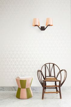 White wallpaper/behang Layers by Edward van Vliet - BN Wallcoverings