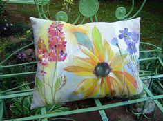 handpainted pillow