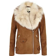 Keep covered for all occasions in our women's coats. Look to trench coats and denim jackets this spring/summer. Shop women's coats and jackets here. Tan Jacket, Brown Jacket, Suede Jacket, New Outfits, Trendy Outfits, Cool Outfits, Trendy Clothing, River Island Jackets, Aviator Jackets