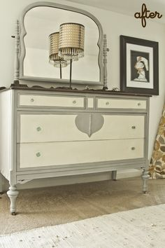 Black And White And Loved All Over: Stuff I Made: Painted Dresser.