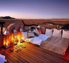 Sleeping under the stars after a Safari in Namibia! Namibia Travel, Africa Travel, Marrakech, Safari, Sleeping Under The Stars, Luxury Travel, Luxury Hotels, Lodges, Travel Style