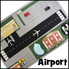 Airport play mat could be made into a felt board