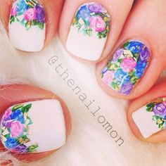 floral nails