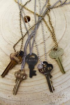 The Giving Keys - you wear this necklace and embrace it's message until you find someone who needs that word more. then you give it to them. beautiful idea.
