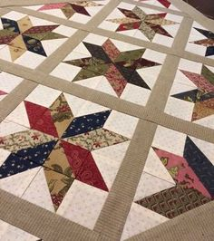 Star quilt. The fabric is the gorgeous Ladies' Album collection by Barbara Brackman for Moda...