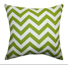 PRESIDENTS DAY SALE Green Throw Pillow - Premier Prints Zig Zag Chartreuse Chevron Decorative Pillow -. $14.39, via Etsy.