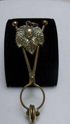 Victorian Brass Figural Skirt Lifter