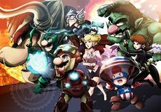 The Mario Avengers by TheJayPhenrix