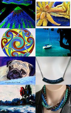 Blue Evening!! by Dr. Erika Muller on Etsy--Pinned with TreasuryPin.com