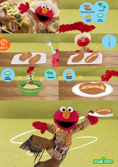 Try Elmo's Double Double Baked Baked Potatoes Recipe today!  Your family will definitely enjoy this nutritious meal. Your kids will love the tasty potatoes! FREE recipe here: http://www.sesamestreet.org/parents/topicsandactivities/recipes/potatoes