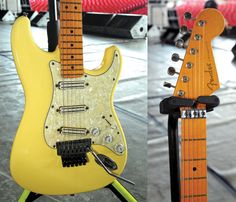 Fender American Standard Strat - Dave Murray (closeup)