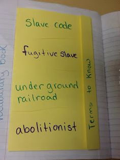 Social Studies Ideas for Elementary Teachers: The Underground Railroad Pop-Up in Interactive Notebook
