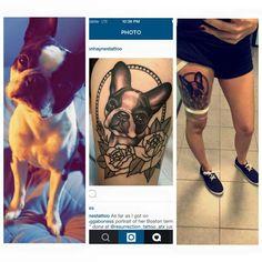 Piercing Tattoo, I Tattoo, Piercings, Boston Terrier Tattoo, Boston Terriers, Animal Tattoos, Tatting, Tattoo Ideas, Ink