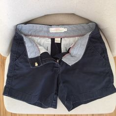 """JCrew 4 Inch Chino Shorts, Size 0, """"Faded Navy"""" Broken in navy color, in great condition. From a smoke free home!! J. Crew Shorts"""