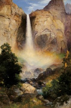 Thomas Moran (1837-1926), Bridalveil Fall, Yosemite Valley - 1904