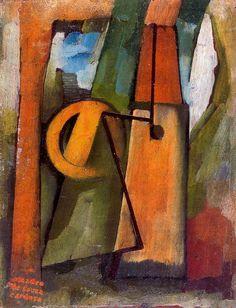 Aceña - Pintura de Amadeo de Souza Cardoso - 1915 Abstract Painters, Gustav Klimt, 2d Art, Storyboard, Art Tutorials, Color Schemes, Fine Art, Sculpture, Cartoon