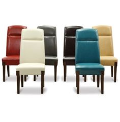 Teal Leather Dining Chairs Baker Parsons Dinettes Rooms Art Van