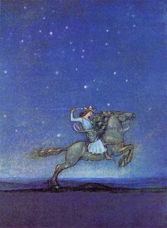 :: Sweet Illustrated Storytime :: Illustration by John Bauer :: The Prince Riding in the Moonlight
