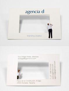 não convencionais cartões de visita