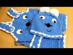 VERY EASY crochet cross back baby romper / onesie tutorial - YouTube
