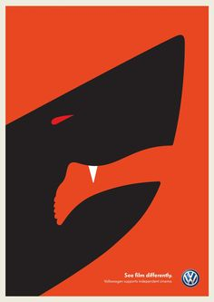 Nadia TUT7: This poster was incorporated a human's leg as the outline of a sharks mouth. This design technique uses Gestalt law of closure.