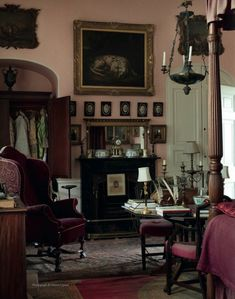 Untouched (since 1964) ~ English interior of Sir Albert Richardson (1880-1964), leading English architect. His Bedfordshire home.