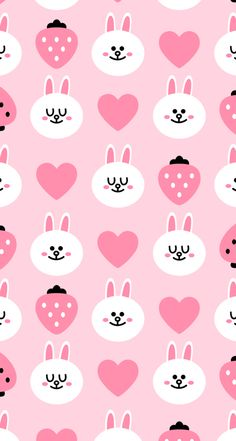 line bunny iphone wallpaper