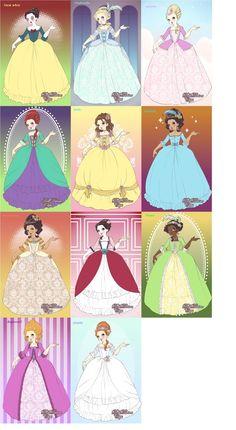 Disney Princess Rococo by Shokka-chan