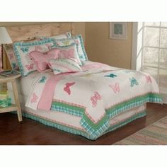 Gingham Butterfly Bedding | Butterfly Bed Set | Butterfly Bedroom