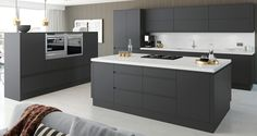 Cranford Charcoal and Grey Kitchen | Fitted Kitchens from Betta Living