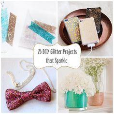 25 DIY Glitter Projects that Sparkle | Babble this would be a fun Project to do with the kids or best friends and to make a little extra cash and sale them