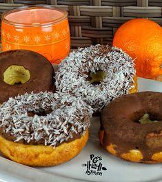 Fánkot? Diétában? Lehet? IGEN! Itt a diétás túrófánk! | Peak girl Bagel, Doughnut, Protein, Food And Drink, Low Carb, Bread, Foods, Drinks, Food Food