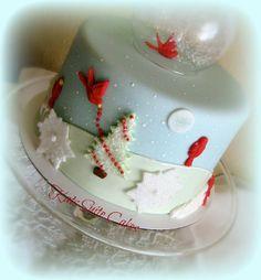 Winter Snow Globe Cake - by KatsSuiteCakes @ CakesDecor.com - cake decorating website