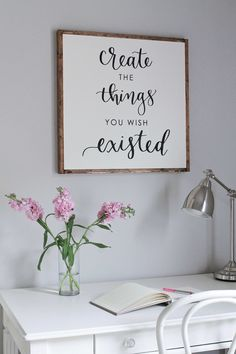 DIY Wood Sign with Calligraphy quote Free download and free vynl  stencil suggestion