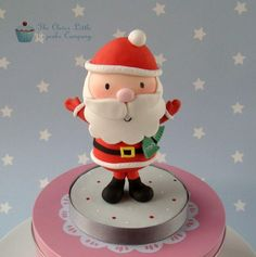 Father Christmas Cake Topper - Cake by The Clever Little Cupcake Company (Amanda Mumbray)