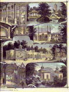 Berlin,Übersicht über die Gebäude imZoologischen Garten, um 1880
