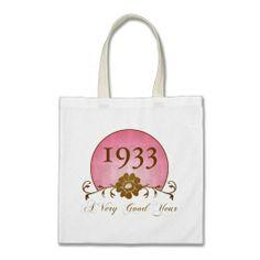 Elegant 1933 Birthday Gifts Bag