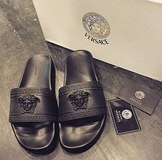 Living for these Cute Sandals, Cute Shoes, Me Too Shoes, Shoes Sandals, Shoes Sneakers, Heels, Versace Shoes, Versace Fashion, Fashion Shoes