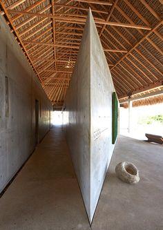 Mexican artist retreat : Casa Wabi Bosco Studio House by Tadao Ando Museum Architecture, Tropical Architecture, Residential Architecture, Amazing Architecture, Art And Architecture, Architecture Details, Ancient Architecture, Sustainable Architecture, Tadao Ando