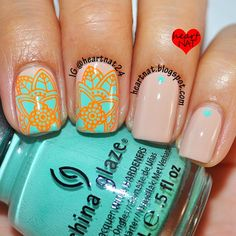 heartnat: Floral Stamping Decal with MoYou London Explorer 03