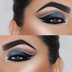 @glambynb drifting away into this ocean blue look using 35N and 35B. The cut crease and detail she has achieved is just breaktaking #morphegirl