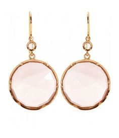 18kt Rose Gold Earrings With Rose De France Amethyst And White D...for the girls in my life