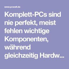 Komplett-PCs sind nie perfekt, meist fehlen wichtige Komponenten, während gleichzeitig Hardware verbaut ist, die Sie gar nicht brauchen. Zudem kombinieren die Hersteller gerne schnelle CPUs mit zu schwachen Grafikkarten - ein fataler Fehler bei Spiele-PCs. Legen Sie selbst Hand an, müssen auch keine faulen Kompromisse wie etwa windige No-Name-Netzteile (Chinaböller) eingehen. Doch das Beste an einem Eigenbau-PC ist die massive Preisersparnis, schließlich müssen Sie nicht die Arbeitszeit…