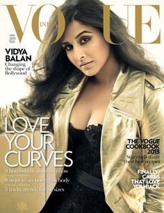 Hot Vidya Balan - Actress Vidya Balan is the Alpha Female. The gorgeous and talented Mrs. Vidya Balan Kapoor shows off her hot curves on the first issue of Vogue India Vogue Magazine Covers, Fashion Magazine Cover, Vogue Covers, Red Haired Actresses, Indian Actresses, Vidya Balan Hot, Revealing Dresses, Photoshoot Images, Vogue India